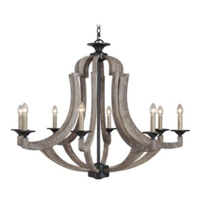 Jeremiah Lighting 35128-WP Winton - Eight Light Chandelier