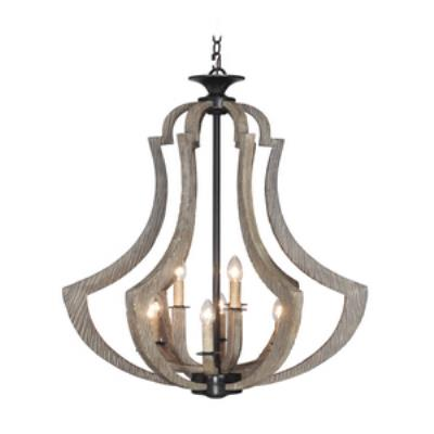 Jeremiah Lighting 35139-WP Winton - Nine Light Foyer