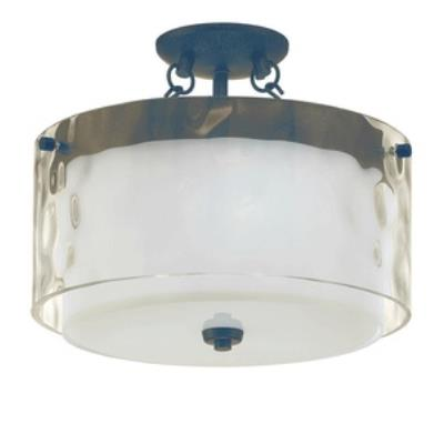 Jeremiah Lighting 35453-PR Kenswick - One Light Semi-Flush Mount