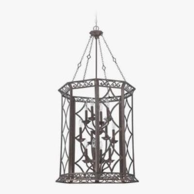 Jeremiah Lighting 36432-PR Evangeline - Twelve Light Foyer