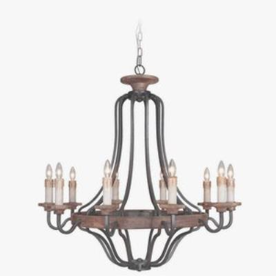 Jeremiah Lighting 36510-TBWB Ashwood - Ten Light Chandelier