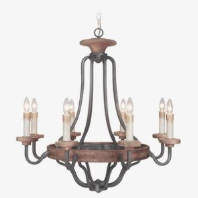 Jeremiah Lighting 36528-TBWB Ashwood - Six Light Chandelier
