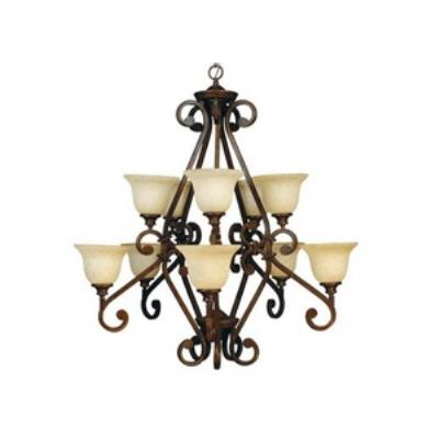 Jeremiah Lighting 9138PR10 Toscana - Ten Light 2-Tier Chandelier