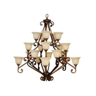 Jeremiah Lighting 9152PR20 Toscana - Twenty Light 4-Tier Chandelier