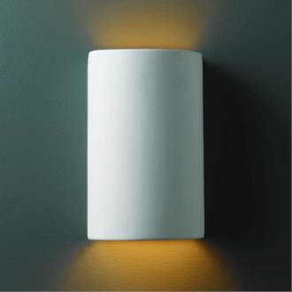 Justice Design 5945 Small Cylinder Open Top and Bottom ADA Sconce