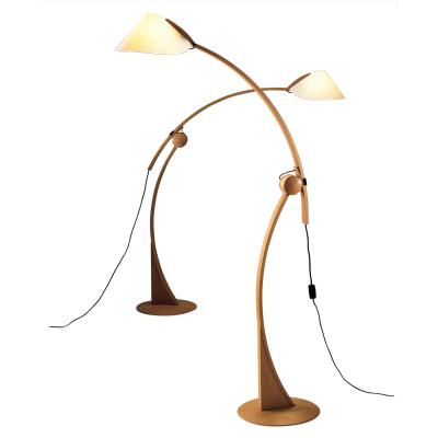 Justice Design DOM-8003 Domus - One Light Beech Wood Floor Lamp