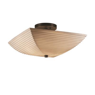 Justice Design PNA-9695 Porcelina - Two Light Square Semi-Flush Mount
