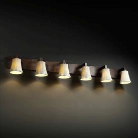 Justice Design POR-8926 Limoges - Six Light Bath Bar