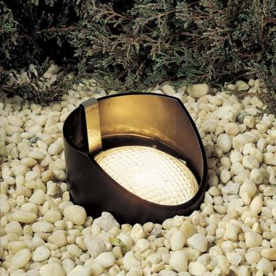 Kichler Lighting 15088BK12 Low Voltage One Light In Ground Lamp