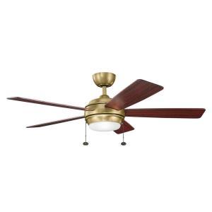 """Starkk - 75W 52"""" Ceiling Fan with Light Kit"""