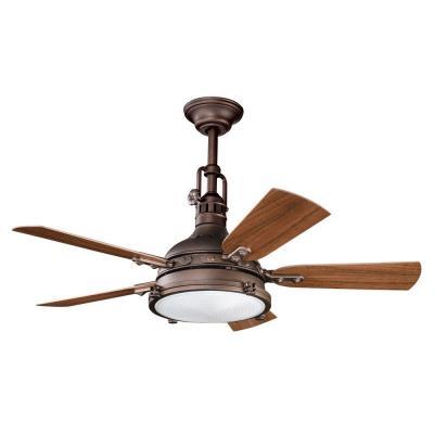 """Kichler Lighting 310101WCP Hatteras Bay Patio - 44"""" Ceiling Fan"""