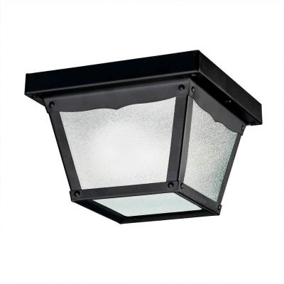 Kichler Lighting 365BK One Light Outdoor Flush Mount