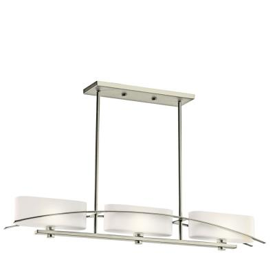 Kichler Lighting 42017NI Suspension - Three Light Linear Chandelier