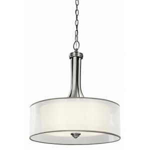 Lacey - Four Light Inverted Drum Shade Pendant