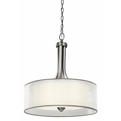 Kichler Lighting 42385 Lacey - Three Light Inverted Drum Shade Pendant