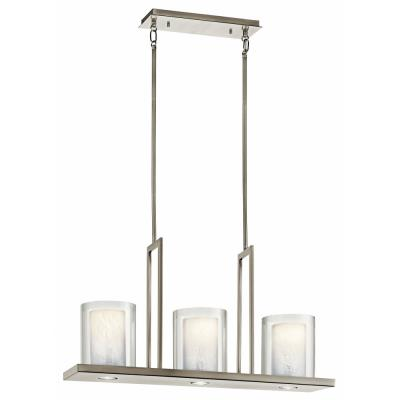 Kichler Lighting 42547CLP Triad - Three Light Linear Chandelier