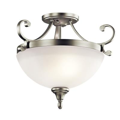 Kichler Lighting 43169NI Monroe - Two Light Semi-Flush Mount