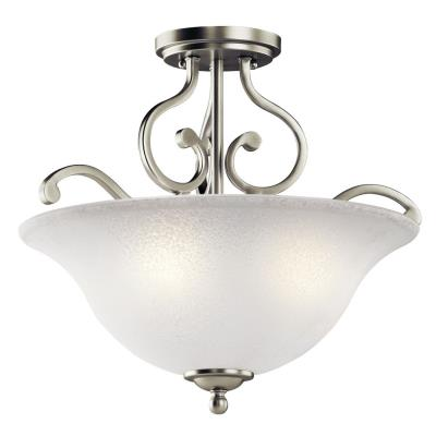 Kichler Lighting 43232NI Camerena - Three Light Semi-Flush Mount