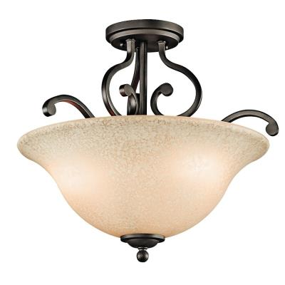 Kichler Lighting 43232OZ Camerena - Three Light Semi-Flush Mount