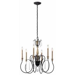 Kichler lighting styles of lighting kimblewick six light chandelier by kichler lighting mozeypictures Image collections