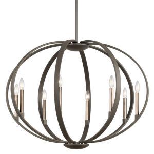 Elata - Eight Light Round Chandelier