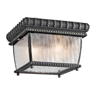 Kichler Lighting 49136BKG Venetian Rain - Two Light Outdoor Flush Mount