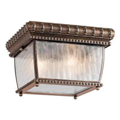 Kichler Lighting 49136BRZ Venetian Rain - Two Light Outdoor Flush Mount