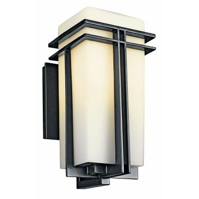 Kichler Lighting 49201BK Tremillo - One Light Outdoor Wall Mount