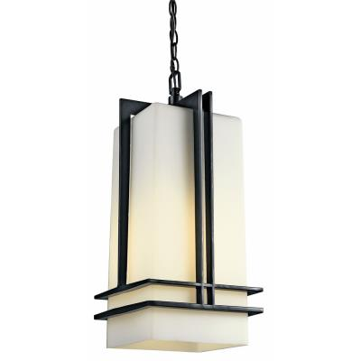 Kichler Lighting 49205BKFL Tremillo - One Light Outdoor Pendant