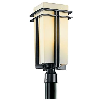 Kichler Lighting 49207BK Tremillo - One Light Outdoor Post Mount