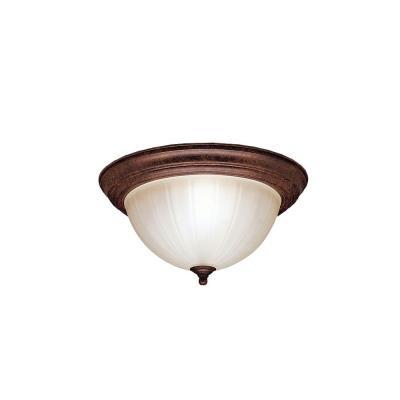 Kichler Lighting 8654TZ Two Light Flush Mount