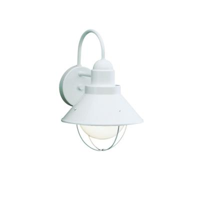 Kichler Lighting 9022WH Seaside - One Light Outdoor Wall Mount