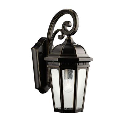 Kichler Lighting 9033RZ Courtyard - One Light Outdoor Wall Mount