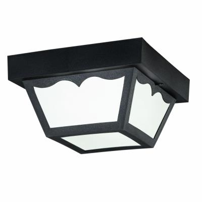 Kichler Lighting 9320BK One Light Outdoor Flush Mount