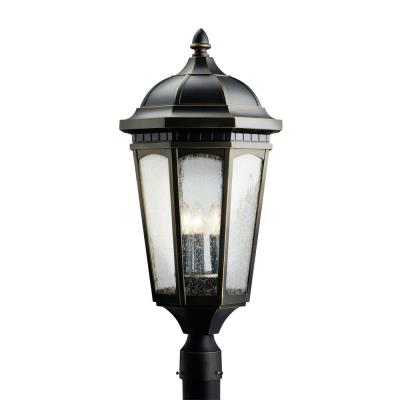 Kichler Lighting 9533RZ Courtyard - Three Light Outdoor Post Mount