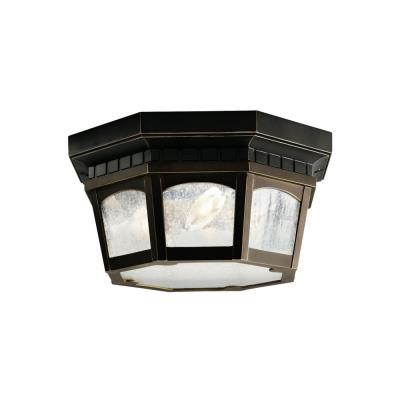 Kichler Lighting 9538RZ Courtyard - Three Light Outdoor Flush Mount