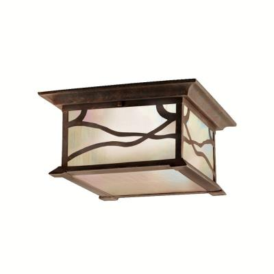 Kichler Lighting 9838DCO Morris - Two Light Outdoor Flush Mount