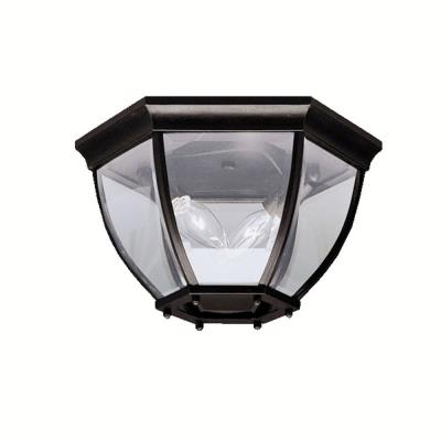 Kichler Lighting 9886BK Townhouse - Two Light Outdoor Flush Mount