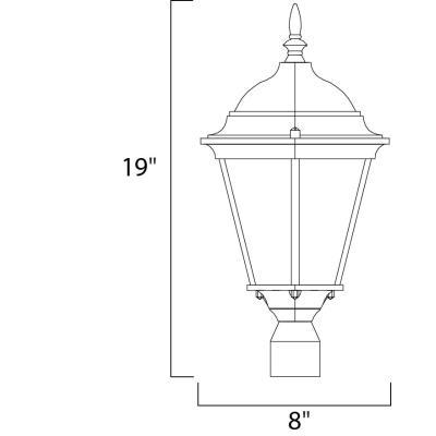Maxim Lighting 1001 Westlake - One Light Outdoor Post Mount