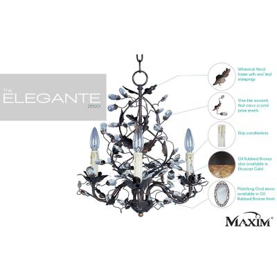 Maxim Lighting 2850 Elegante - Three Light Chandelier