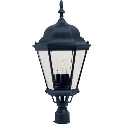 Maxim Lighting 1007BK Westlake - Three Light Outdoor Pole/Post Mount