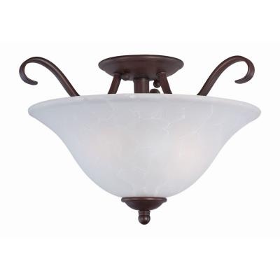 Maxim Lighting 10120 Basix - Two Light Semi-Flush Mount