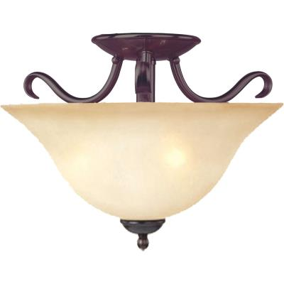 Maxim Lighting 10120WSOI Basix - Two Light Semi-Flush Mount