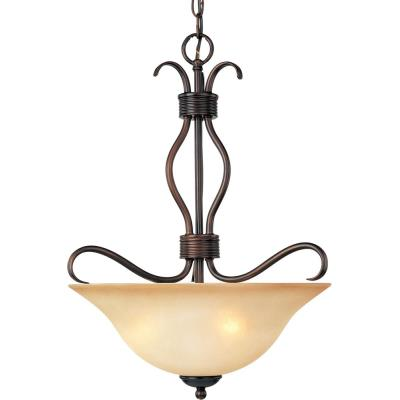 Maxim Lighting 10121WSOI Basix - Three Light Invert Bowl Pendant