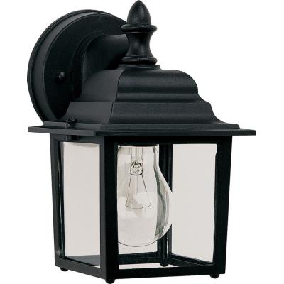 Maxim Lighting 1025BK Builder Cast - One Light Outdoor Wall Mount
