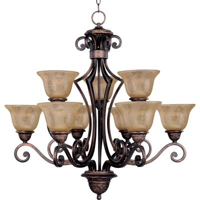 Maxim Lighting 11245SAOI Symphony - Nine Light 2-Tier Chandelier