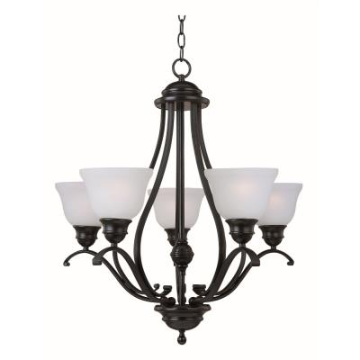 Maxim Lighting 11805ICBK Linda - Five Light Chandelier