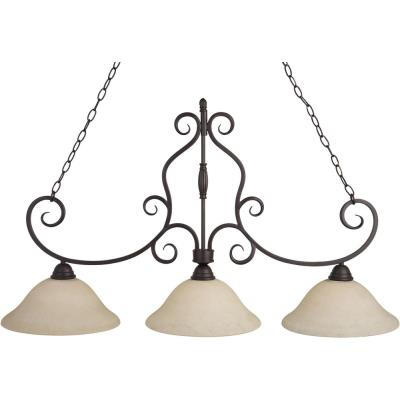 Maxim Lighting 12208FIOI Manor - Three Light Island Pendant