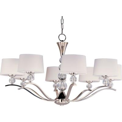 Maxim Lighting 12758WTPN Rondo - Eight Light Chandelier