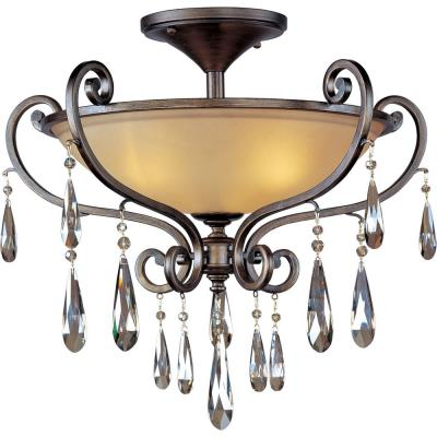 Maxim Lighting 14302COHR Chic - Three Light Semi-Flush Mount